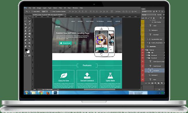 Mock up Design of ReactJS Web Development by Boffin Coders