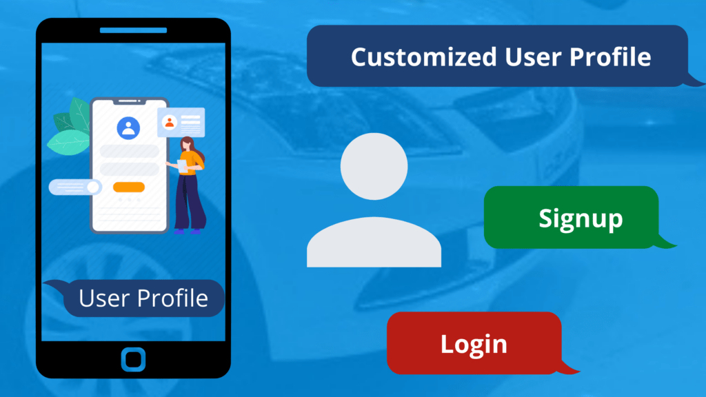 Customized User Profile in Car Dealership App
